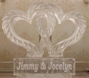 Linking Hearts with Snowfilled name plaque