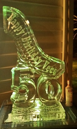 Custom Bill Luge $250 cash at pick up with carved number in base and wording down side