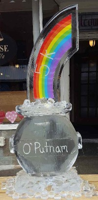 Colored Rainbow Lamination with Personalized Pot of Gold