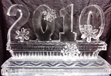 Year Carved with Snowflakes